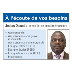 Josias Osamba, iA Groupe financier