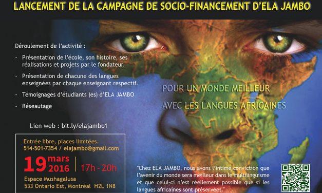 ELA Jambo: Pour un monde meilleur avec les langues africaines