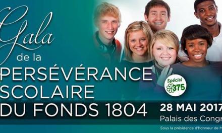 Gala du Fonds 1804 pour la persévérance scolaire
