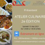 Atelier culinaire 2e édition